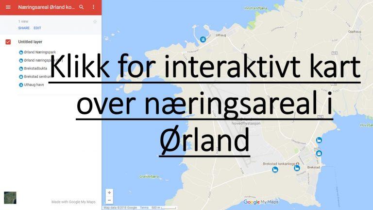 kart over ørlandet Klikk for interaktivt kart over næringsareal i Ørland   Ørland kart over ørlandet